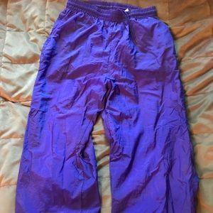 Nike neon purple track pants